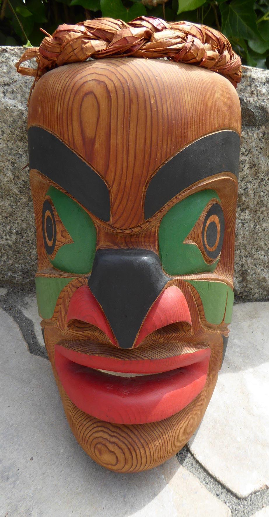 Native American Mask Northwest Coast ⋆ Copper Shield