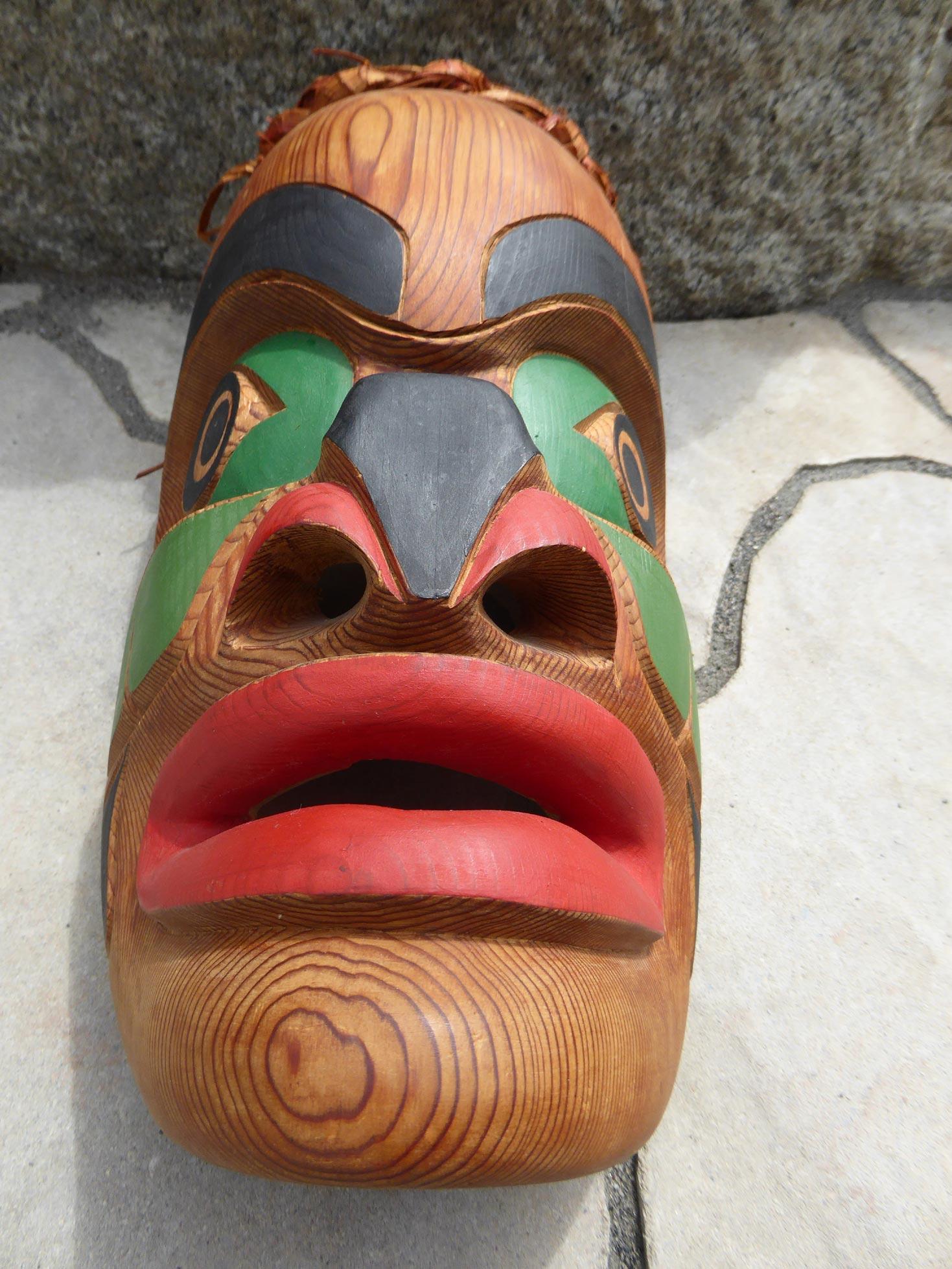 Native American Mask Northwest Coast ⋆ Copper Shield Tribal Art