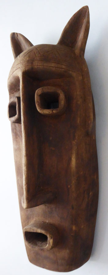 African Dogon Mali Zoomorphic Tribal Mask ⋆ Copper Shield