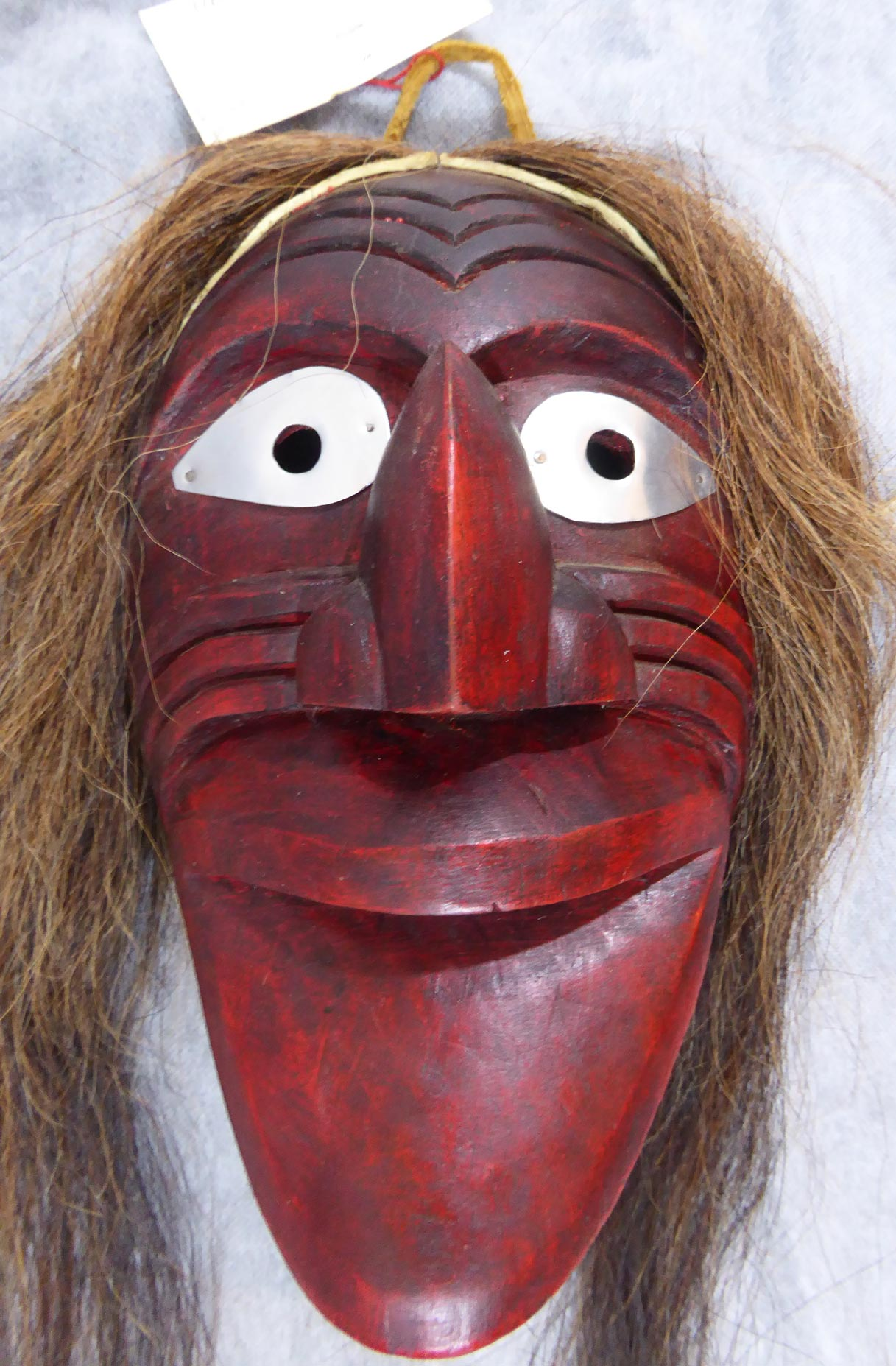 native american iroquois mask copper shield tribal art