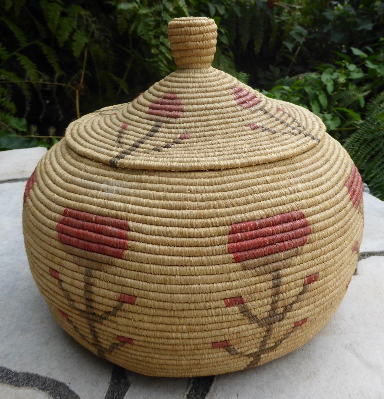Native American Alaskan Eskimo Yupik Basket ⋆ Copper