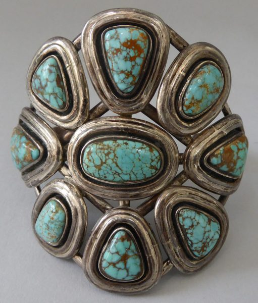 Navajo-Turquoise-Cluster-Bracelet-1