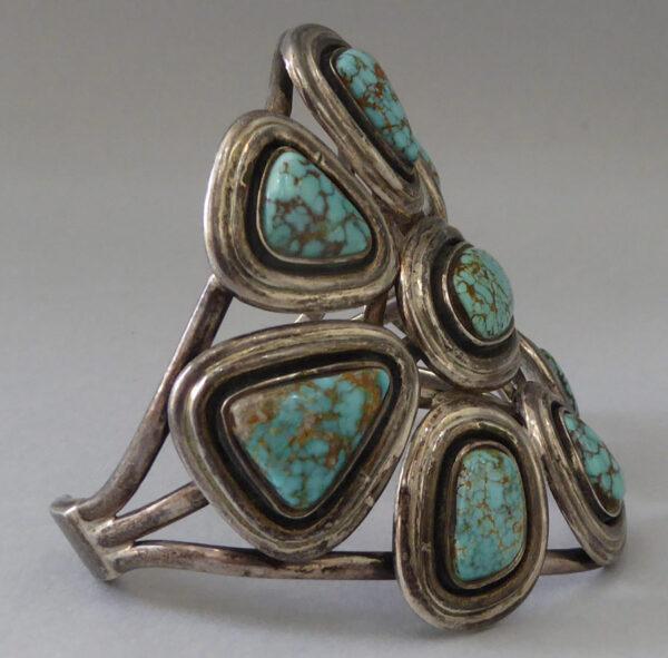 Navajo-Turquoise-Cluster-Bracelet-2