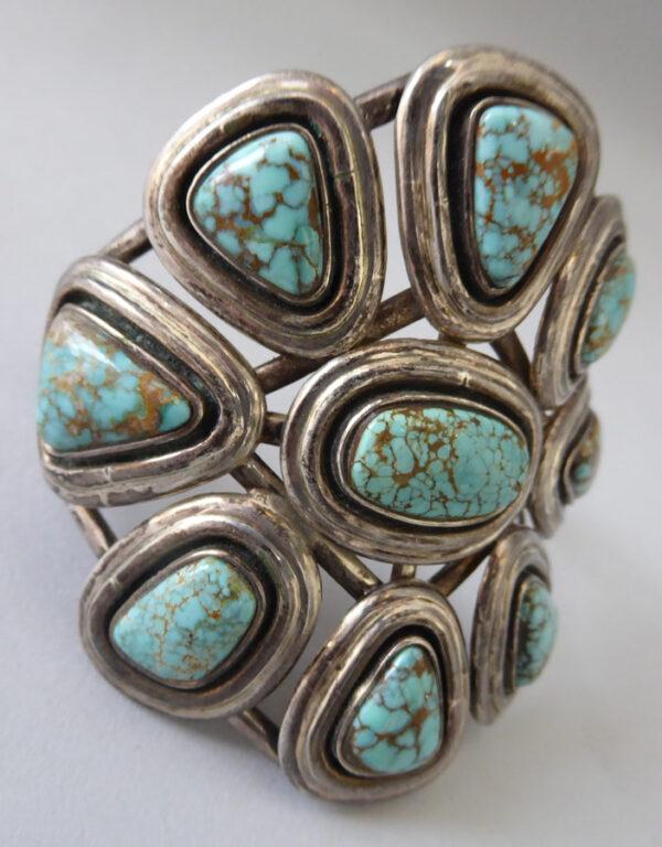 Navajo-Turquoise-Cluster-Bracelet-4