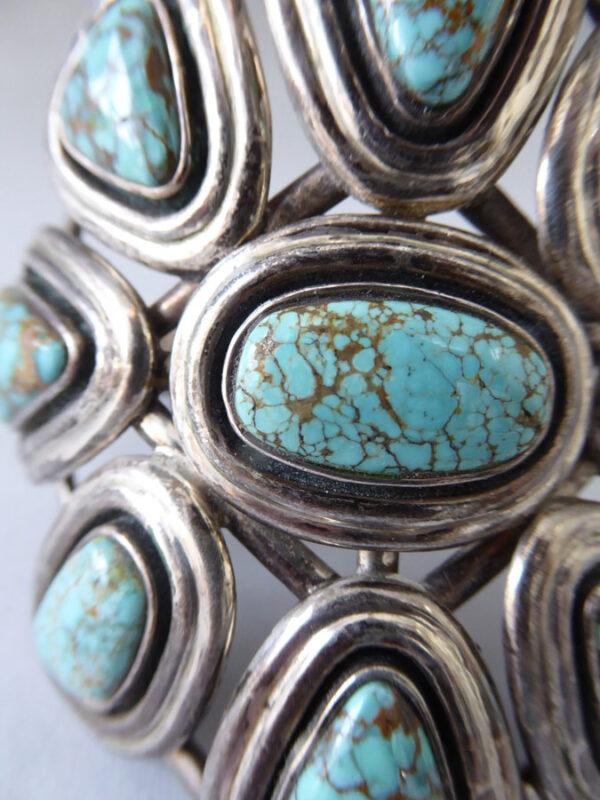 Navajo-Turquoise-Cluster-Bracelet-5