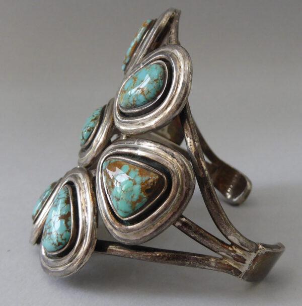 Navajo-Turquoise-Cluster-Bracelet-6