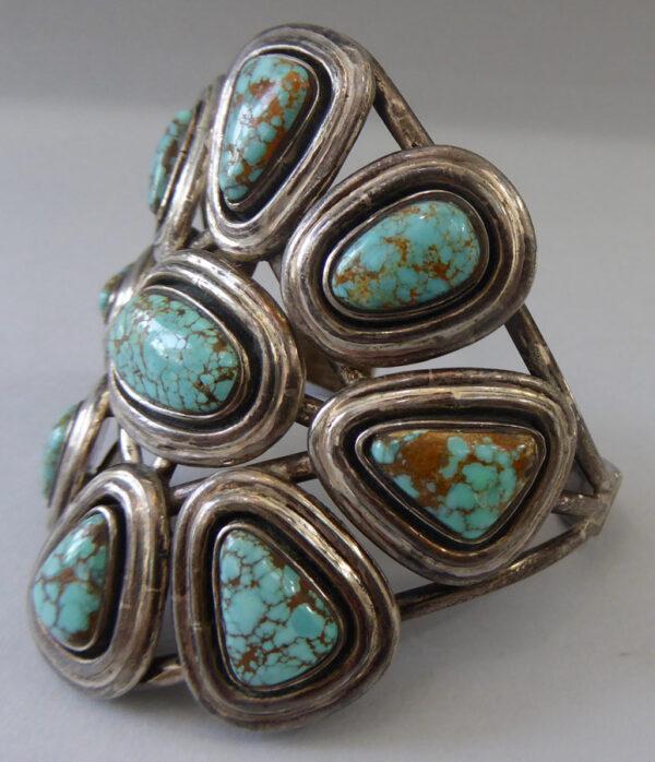 Navajo-Turquoise-Cluster-Bracelet-8