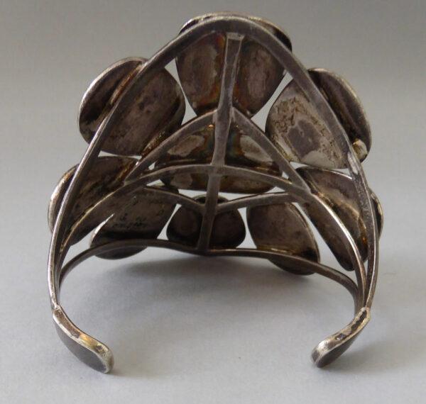 Navajo-Turquoise-Cluster-Bracelet-9