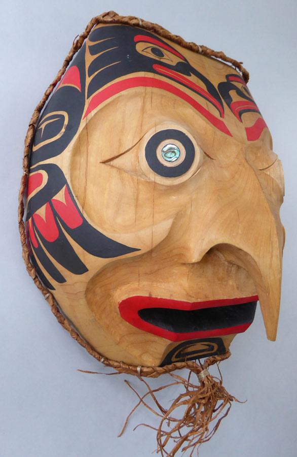 northwest coast owl indian mask copper shield tribal art