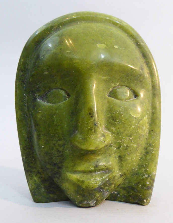 Canada first nations inuit stone sculpture face ⋆ copper